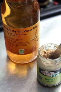 white wine vinegar and horseradish