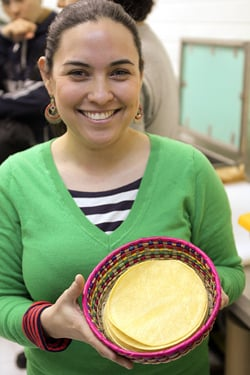 tortillas at Mil Amores
