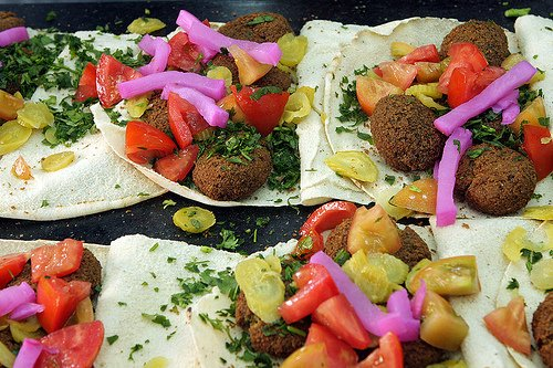 falafel with turnips