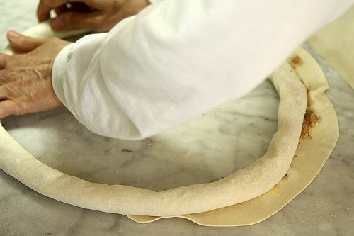 shaping pastry