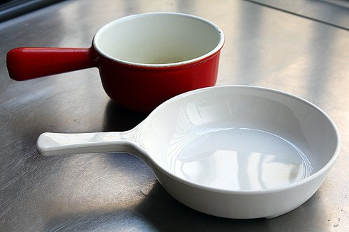glass and enamel cookware