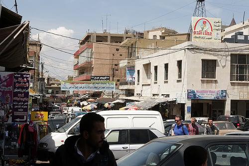 street scene near souk