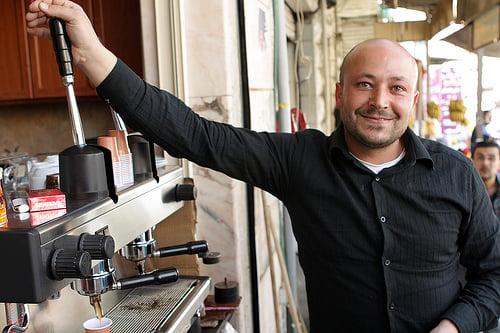coffee maker in souk