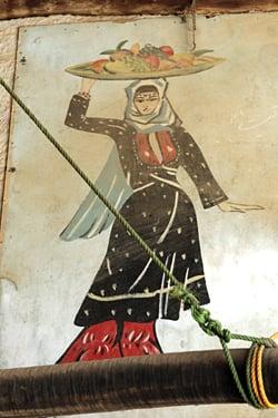 Lebanese woman with fruit