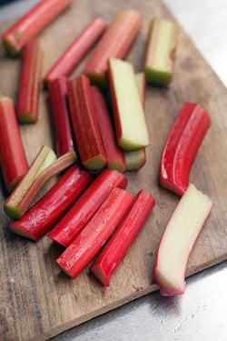 batons of rhubarb
