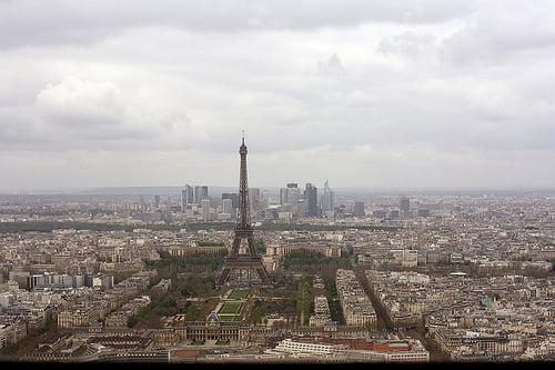 paris view from ciel de paris restaurant