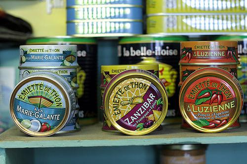 French tuna tins
