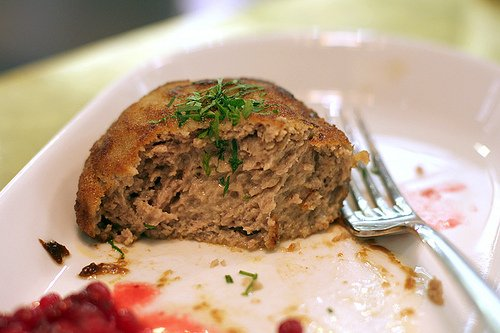 Swedish meat and cream pattie