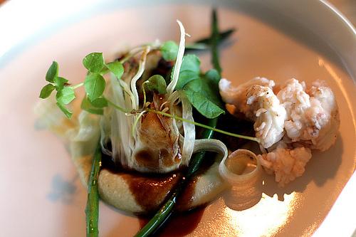 crabmeat at Oaxen Krog restaurant