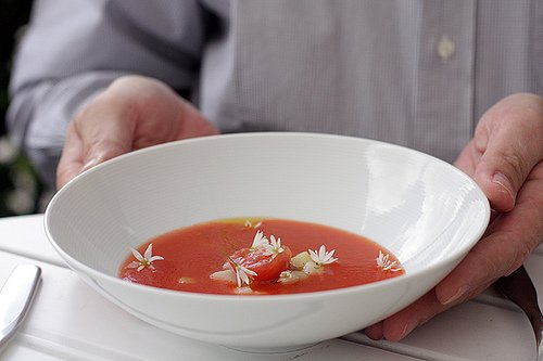 tomato soup at Lux