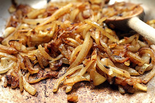 browned onions for patty melt