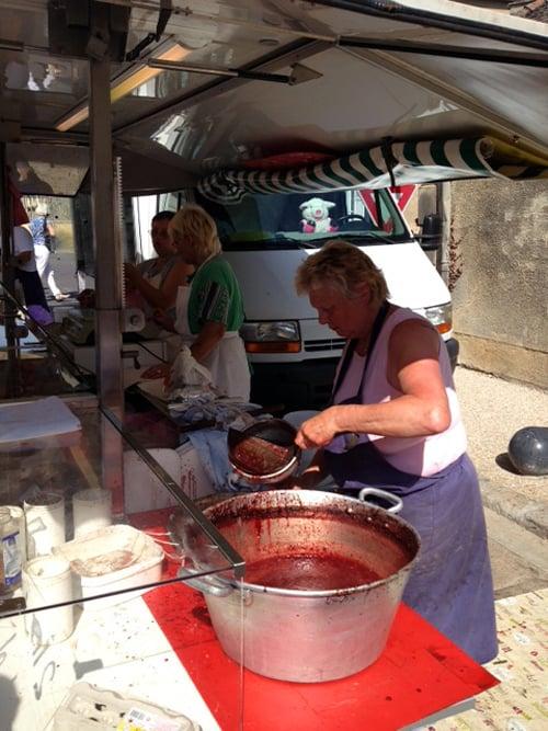 making blood sausage