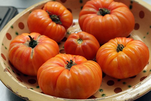 real summer tomatoes