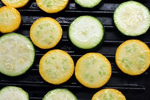 oiled zucchini for grilling
