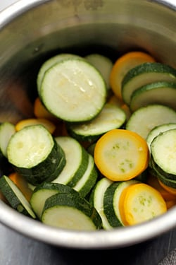 sliced zucchini for grilling