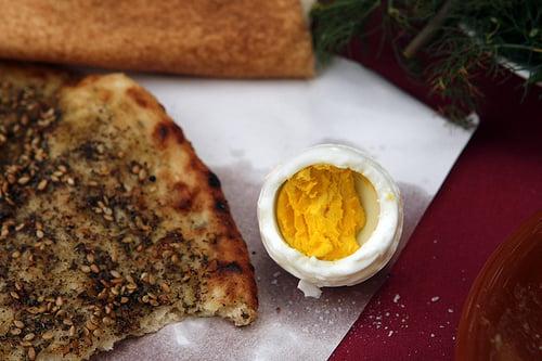 egg and za'atar pita