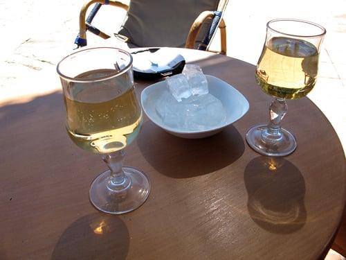 wine and ice