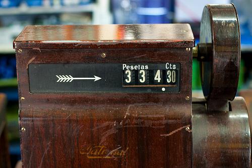 cash register in Spain