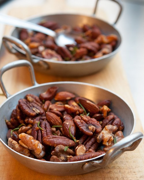 Roasted Nuts with Rosemary
