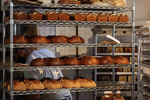 bread rack at The Mill