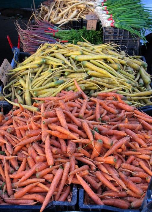 carrots at Hollywood Farmer's Market