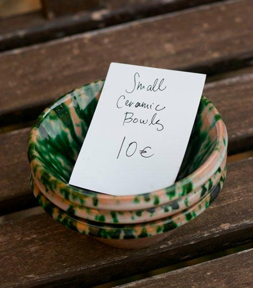 ceramic sicilian bowls
