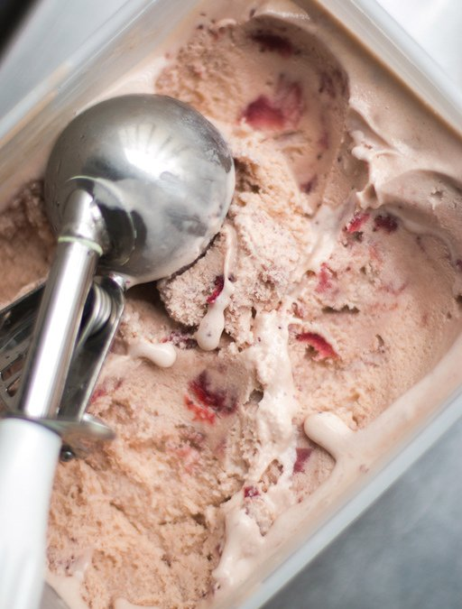 Roasted Strawberry-Miso Ice Cream