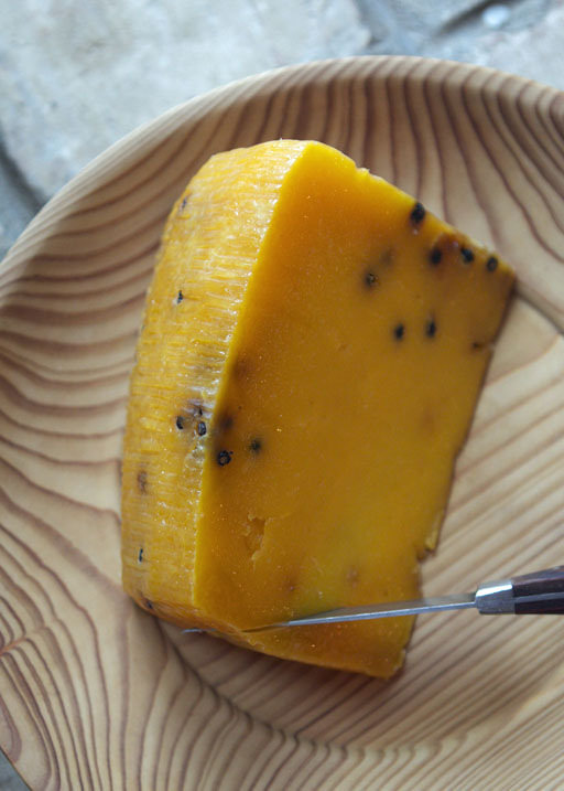 pecorino cheese with saffron