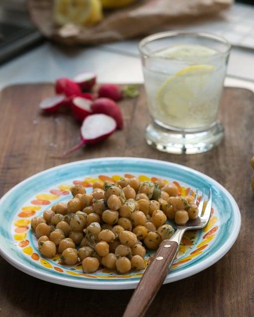 Chickpea, lemon, mint salad recipe 1