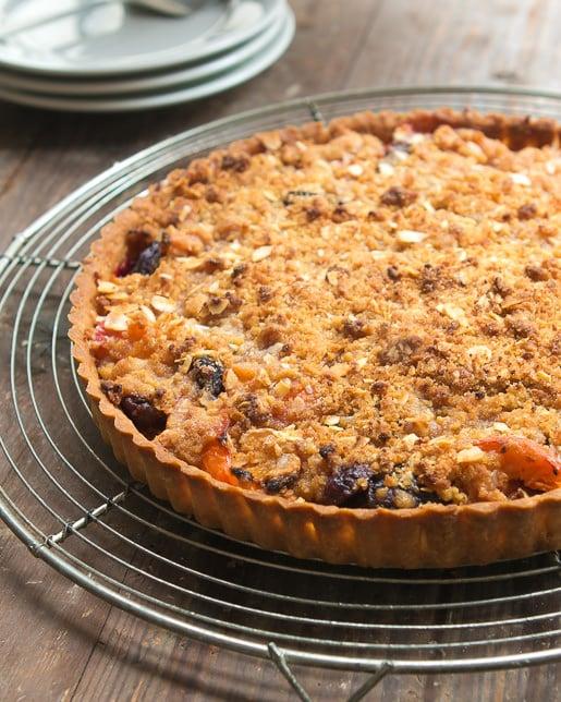 Apricot Cherry Marzipan tart recipe-8