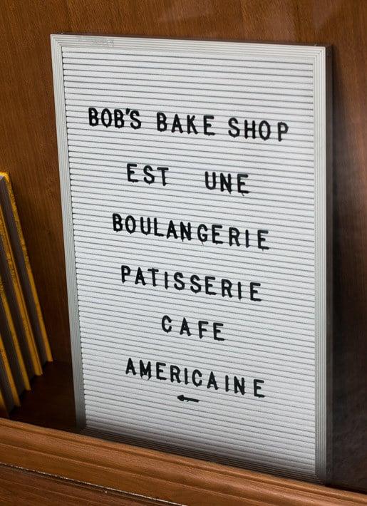 Bob's Bake Shop sign
