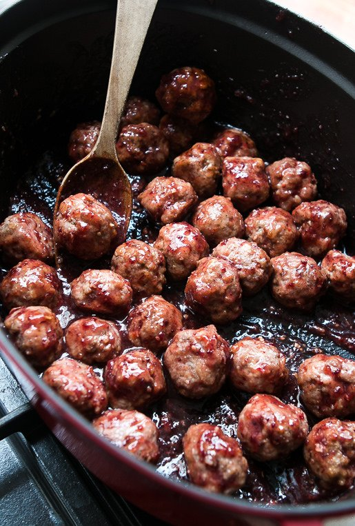 Cranberry-Glazed Meatballs