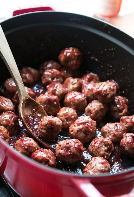 Cranberry-Glazed Meatballs - David Lebovitz