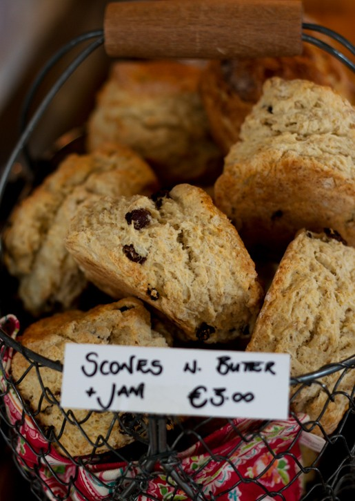 Fresh Irish scones at Ballymaloe Cafe