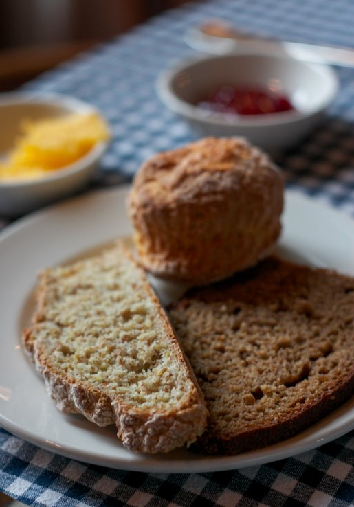 Irish breads at Ballymaloe House restaurant