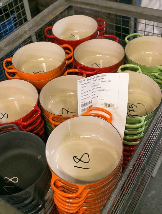 Le Creuset pots and pans