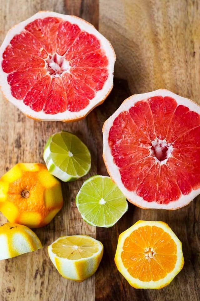 Citrus fruit for homemade tonic water