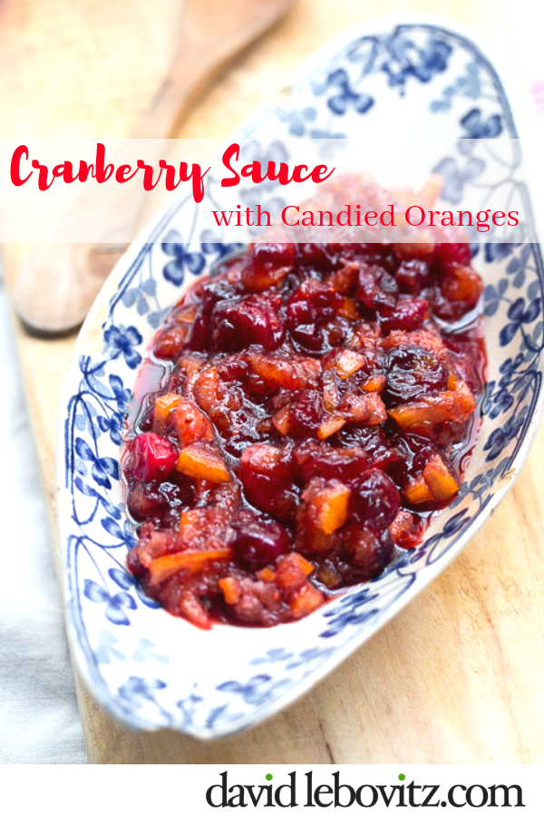 Cranberry Sauce with Candied Oranges