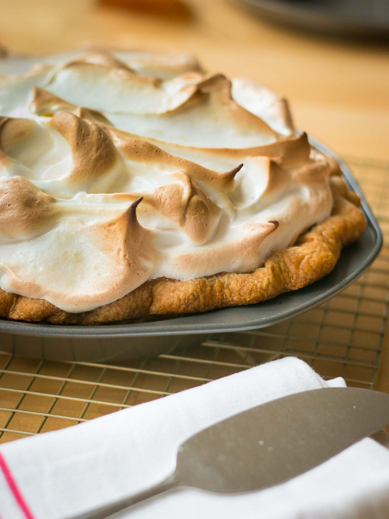 The classic pumpkin pie gets a billowy marshmallow topping!