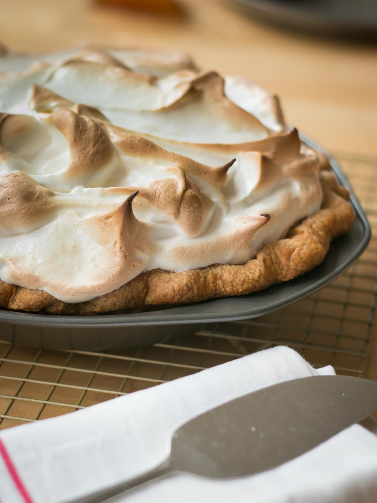 pumpkin pie with toasted marshmallow topping