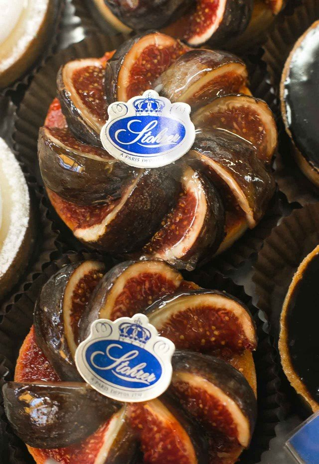 Fig tarts at Stohrer Pastry Shop in Paris