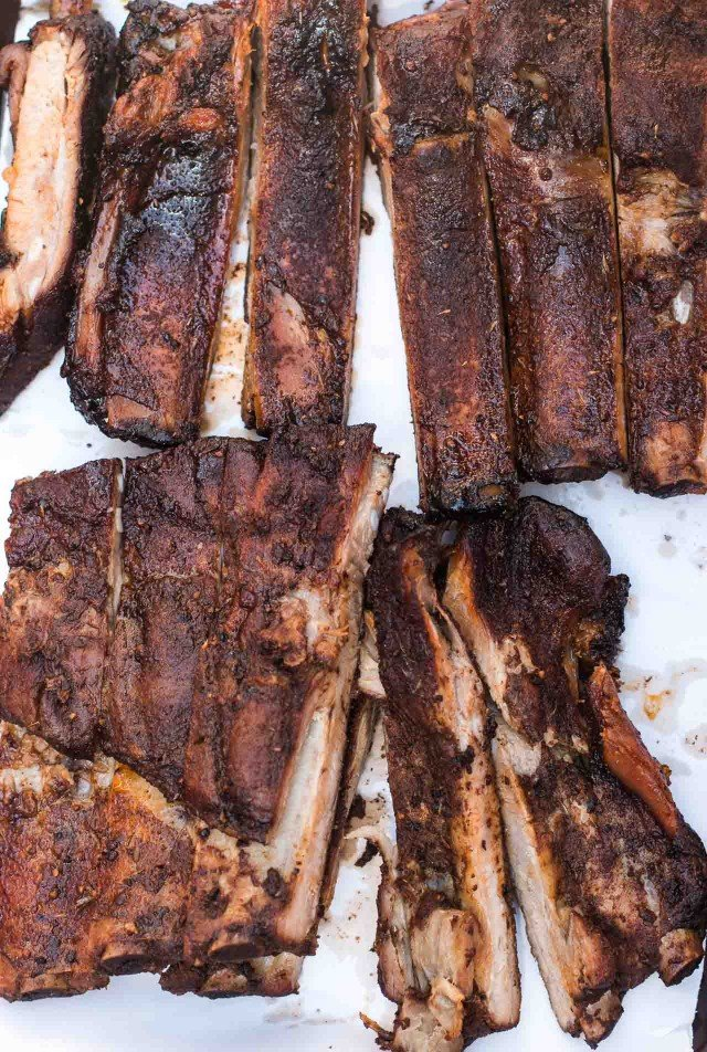 Pork ribs at John Brown Smokehouse New York