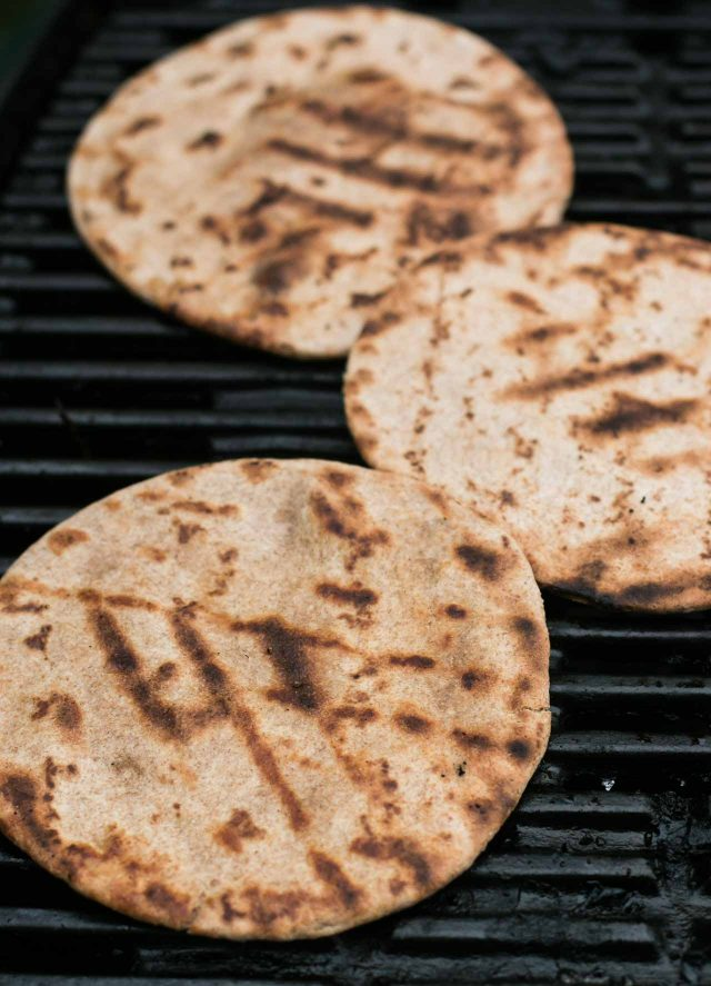 Flatbreads for Moroccan spiced grilled chicken kebabs