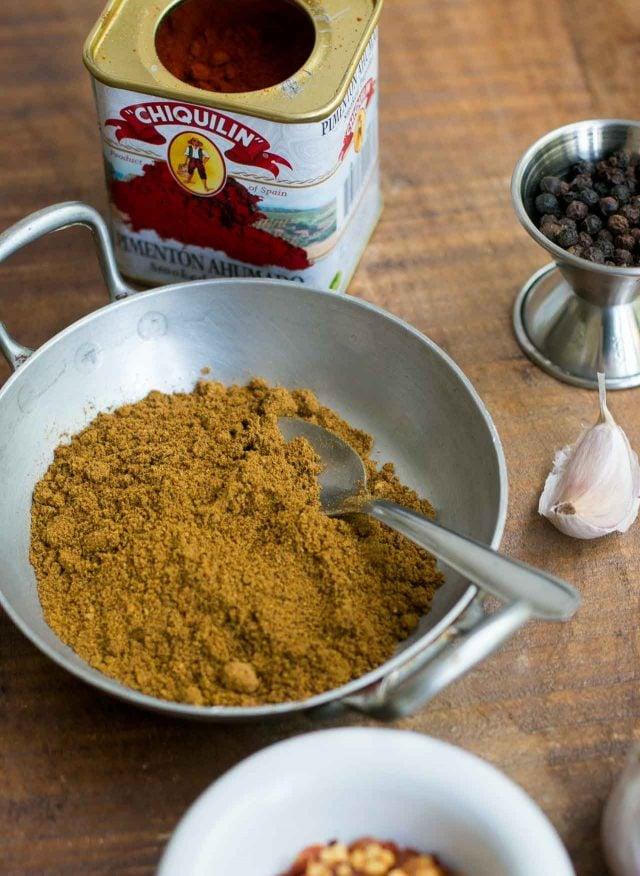 Moroccan spiced grilled chicken kebabs - ras el hanout