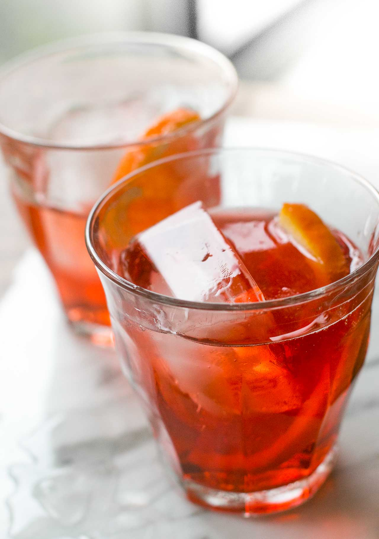 A light cocktail, perfect for summer (or anytime) sipping!