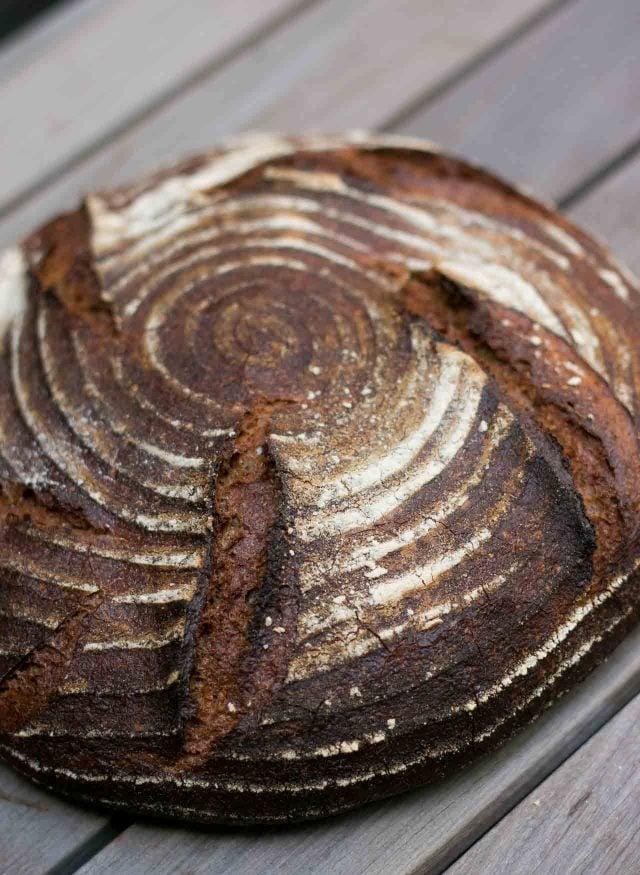 French miche bread