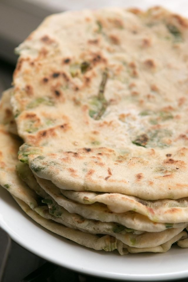 green onion flatbread