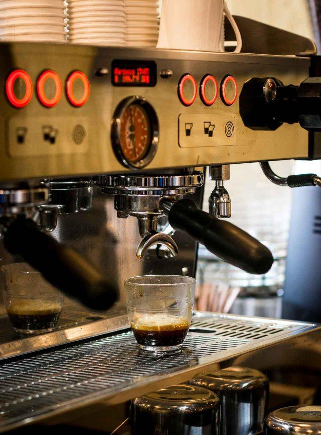 l'Imprimerie Bakery in Brooklyn New York-coffee maker