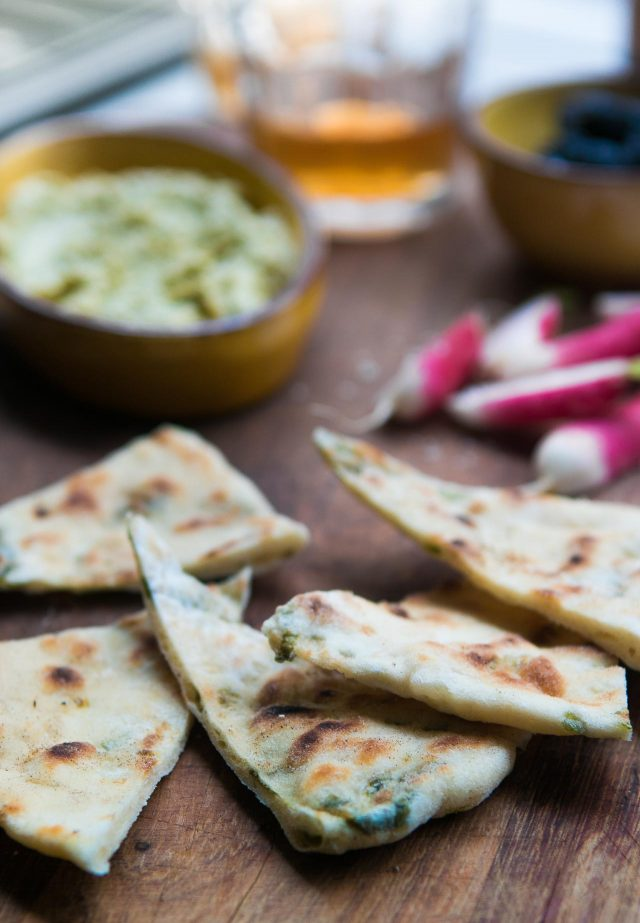 scallion flatbreads