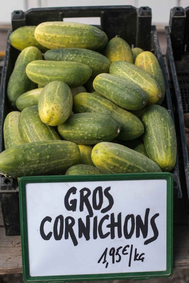 La Ferme de Viltain cucumbers, cornichons